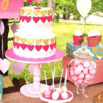 LOVE Pink Ombre + Gold Birthday Party on Kara's Party Ideas | KarasPartyIdeas.com (2)