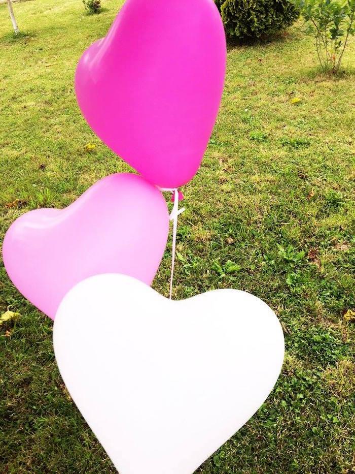 Kara\'s Party Ideas LOVE Pink Ombre + Gold Birthday Party | Kara\'s ...