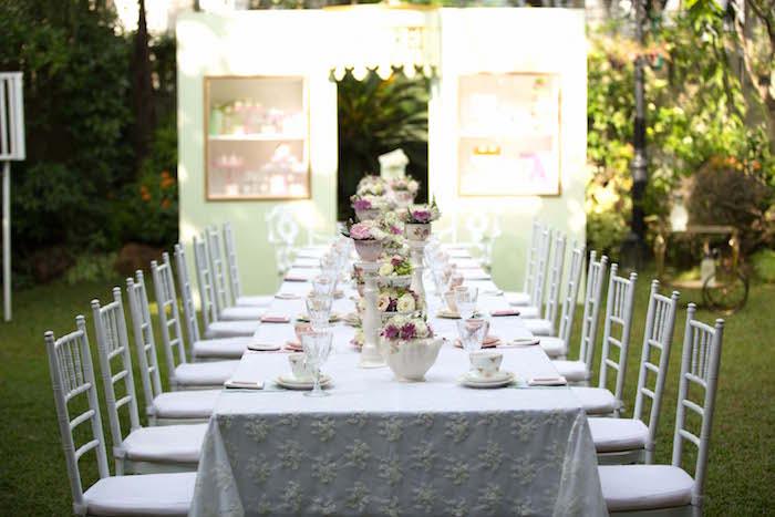 Tablescape from a Laduree Tea Party at Kara's Party Ideas | KarasPartyIdeas.com (36)