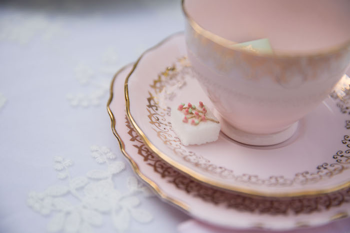 Decorated sugar cube from a Laduree Tea Party at Kara's Party Ideas | KarasPartyIdeas.com (32)
