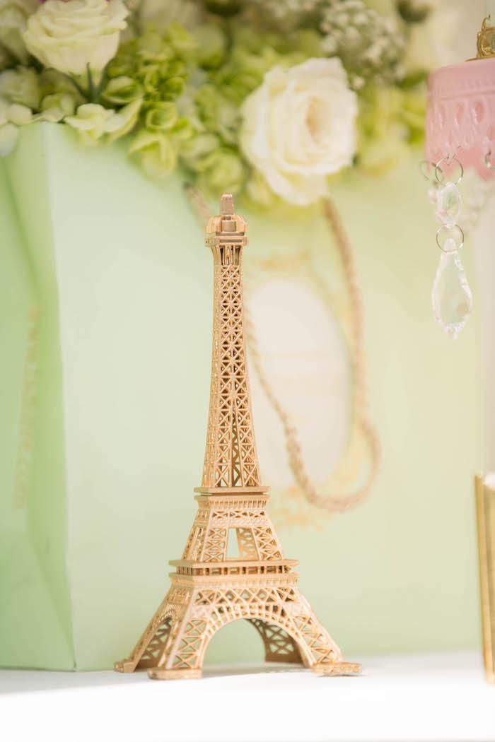 Eiffel tower from a Laduree Tea Party at Kara's Party Ideas | KarasPartyIdeas.com (46)