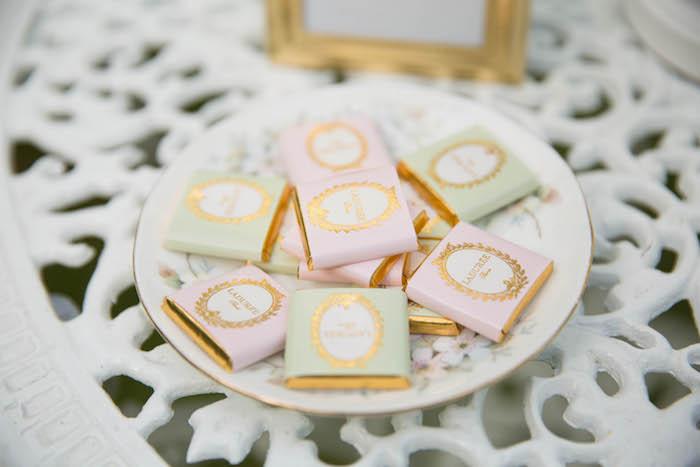 Chocolates from a Laduree Tea Party at Kara's Party Ideas | KarasPartyIdeas.com (25)