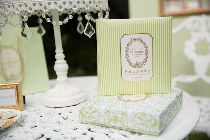 Laduree parcels + decor from a Laduree Tea Party at Kara's Party Ideas | KarasPartyIdeas.com (23)