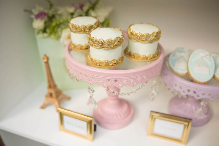 Mini cakes from a Laduree Tea Party at Kara's Party Ideas | KarasPartyIdeas.com (19)