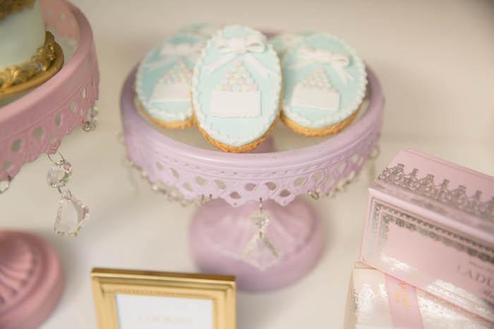 Sugar cookies from a Laduree Tea Party at Kara's Party Ideas | KarasPartyIdeas.com (18)