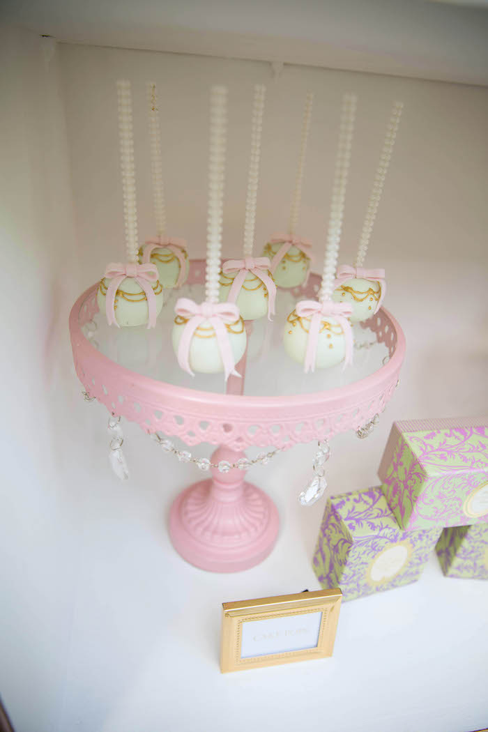 Cake pops from a Laduree Tea Party at Kara's Party Ideas | KarasPartyIdeas.com (16)