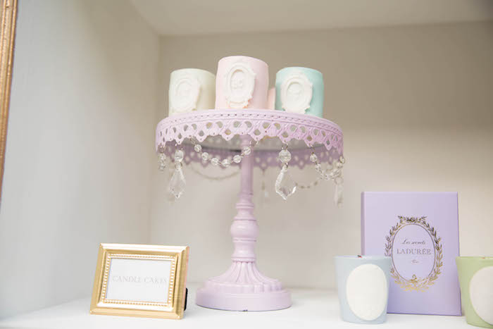 Candle cakes from a Laduree Tea Party at Kara's Party Ideas | KarasPartyIdeas.com (13)