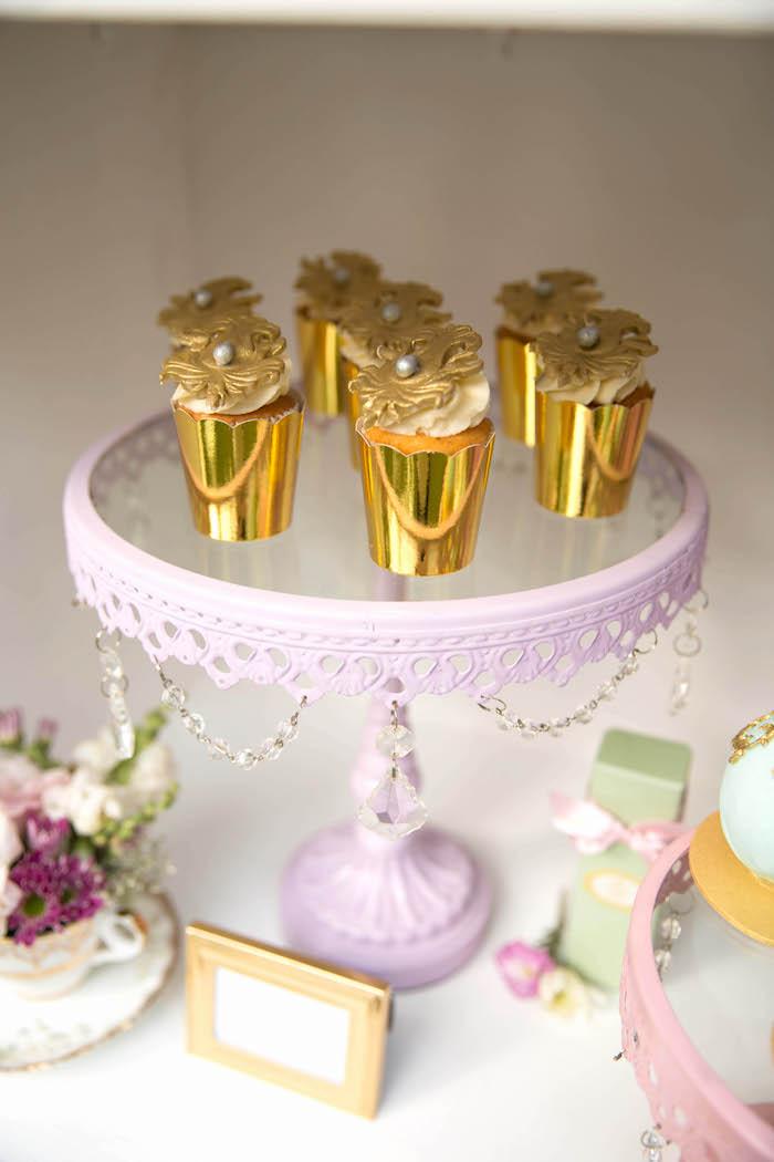 Cupcakes from a Laduree Tea Party at Kara's Party Ideas | KarasPartyIdeas.com (10)