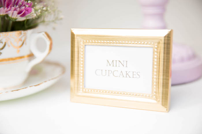 Framed dessert label from a Laduree Tea Party at Kara's Party Ideas | KarasPartyIdeas.com (7)