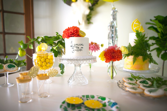 Kara S Party Ideas Quot Lemon The Good Life Quot Birthday Party