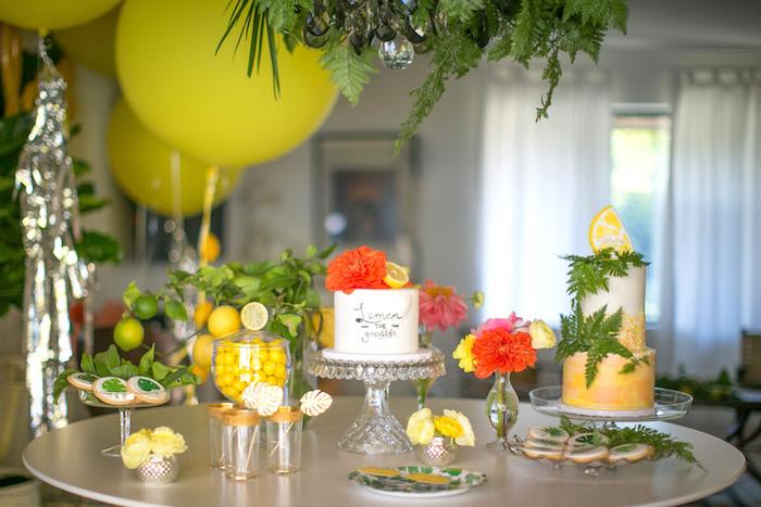Kara S Party Ideas Quot Lemon The Good Life Quot Birthday Party