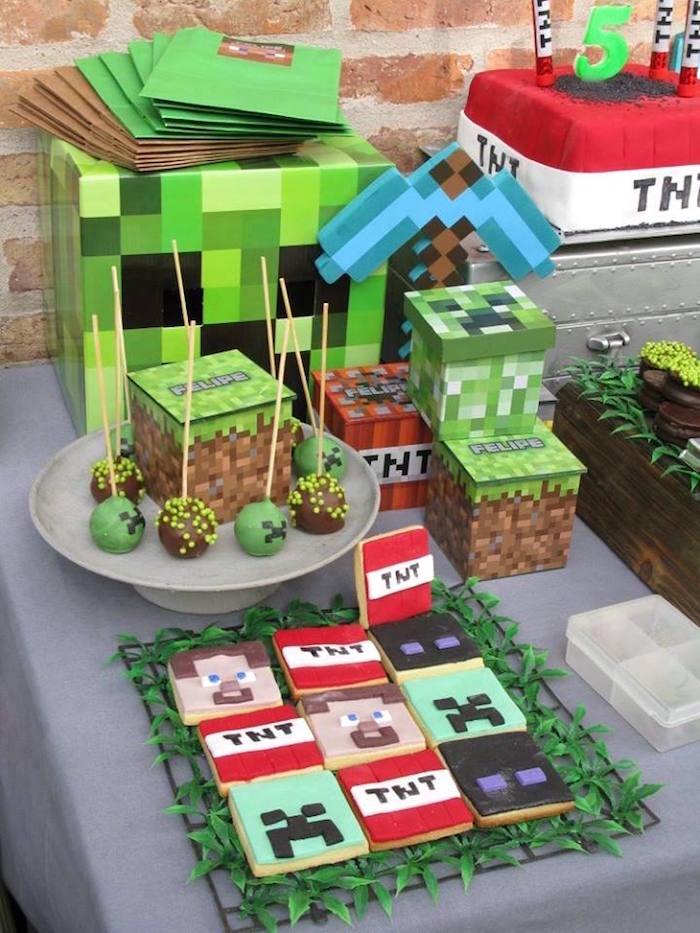 Minecraft Birthday Party via Kara's Party Ideas KarasPartyIdeas.com (16)
