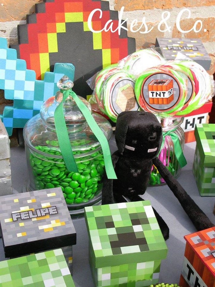 Party details from a TNT Minecraft Birthday Party via Kara's Party Ideas KarasPartyIdeas.com (13)