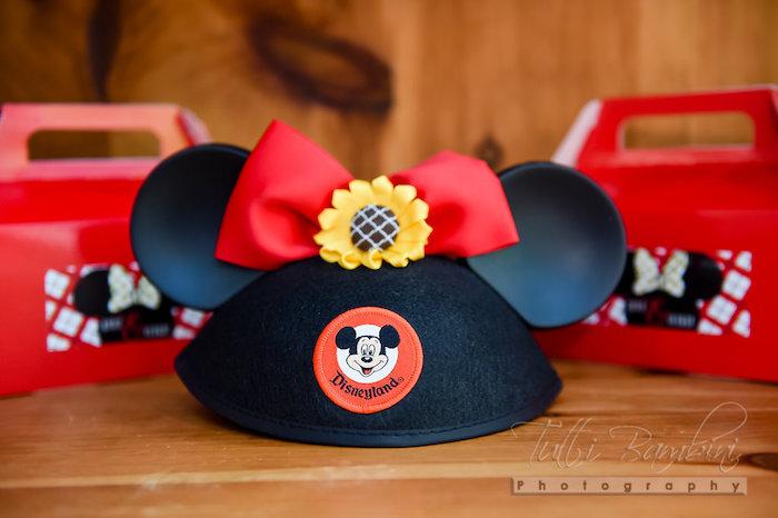 Minnie Mouse Ears from a Minnie Mouse Sunflower Garden Party on Kara's Party Ideas | KarasPartyIdeas.com (49)