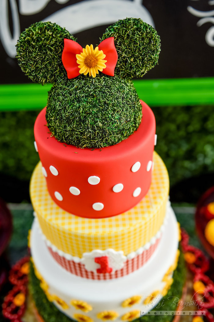 Kara S Party Ideas Minnie Mouse Sunflower Garden Party