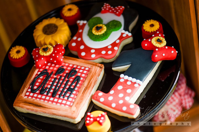 Cookies from a Minnie Mouse Sunflower Garden Party on Kara's Party Ideas | KarasPartyIdeas.com (25)
