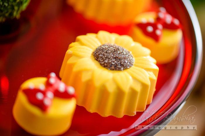 Sunflower Oreo from a Minnie Mouse Sunflower Garden Party on Kara's Party Ideas | KarasPartyIdeas.com (22)