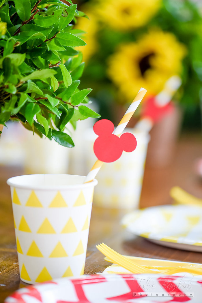 Paper cup from a Minnie Mouse Sunflower Garden Party on Kara's Party Ideas | KarasPartyIdeas.com (56)