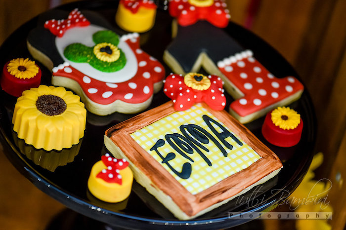 Cookies from a Minnie Mouse Sunflower Garden Party on Kara's Party Ideas | KarasPartyIdeas.com (13)
