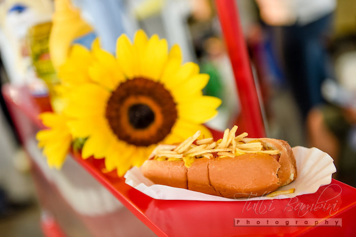 Hot dog from a Minnie Mouse Sunflower Garden Party on Kara's Party Ideas | KarasPartyIdeas.com (9)