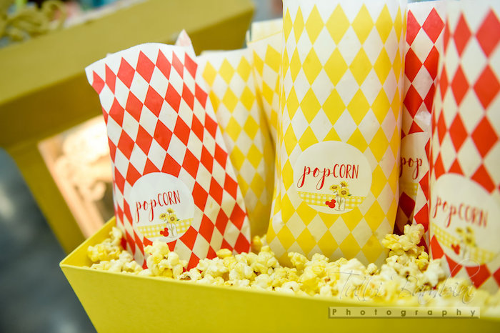 Popcorn from a Minnie Mouse Sunflower Garden Party on Kara's Party Ideas | KarasPartyIdeas.com (7)