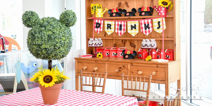 Minnie Mouse Sunflower Garden Party on Kara's Party Ideas | KarasPartyIdeas.com (1)