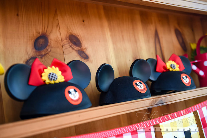 Minnie Mouse Ears from a Minnie Mouse Sunflower Garden Party on Kara's Party Ideas | KarasPartyIdeas.com (51)