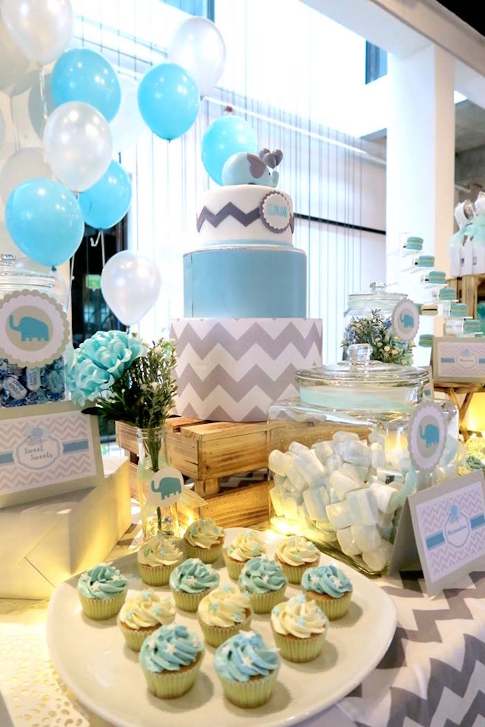 kara 39 s party ideas modern elephant baby shower kara 39 s party ideas
