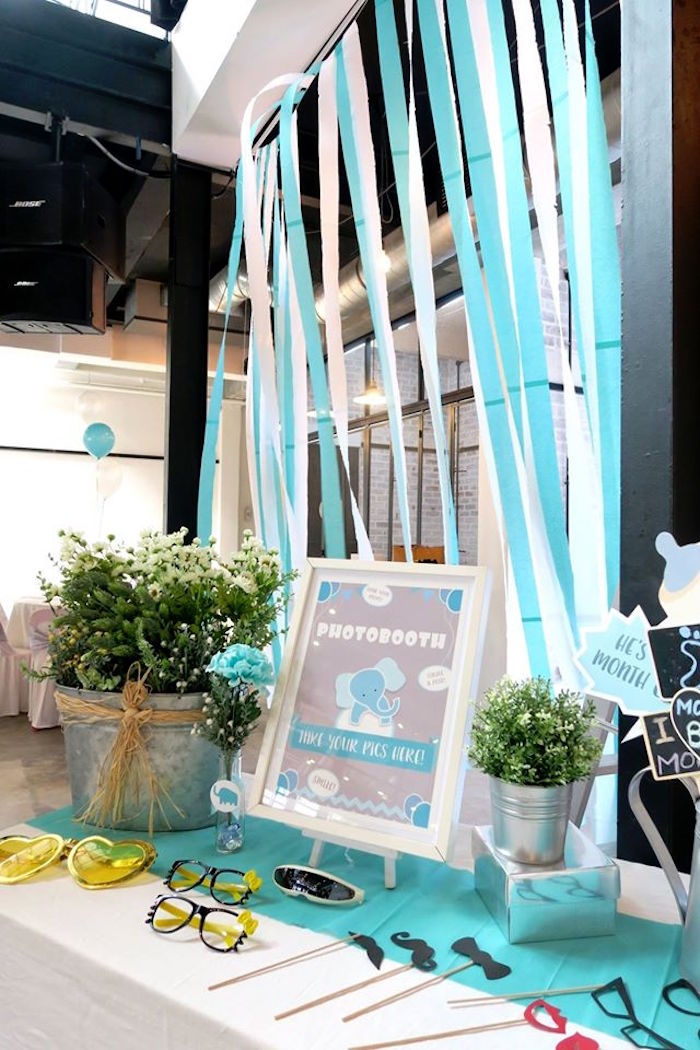 Karas Party Ideas Modern Elephant Baby Shower Karas Party Ideas