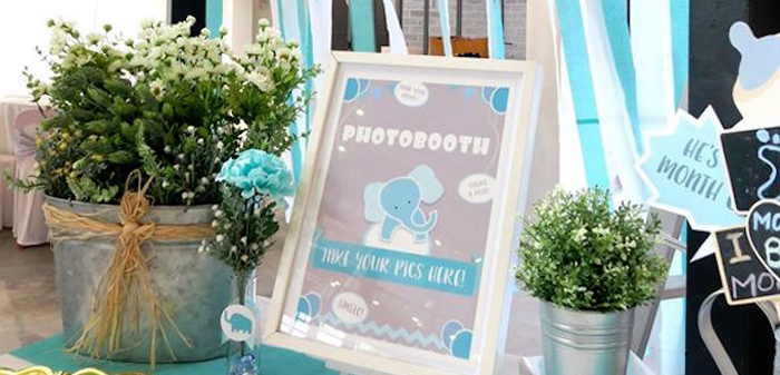 Modern Elephant Baby Shower on Kara's Party Ideas | KarasPartyIdeas.com (1)