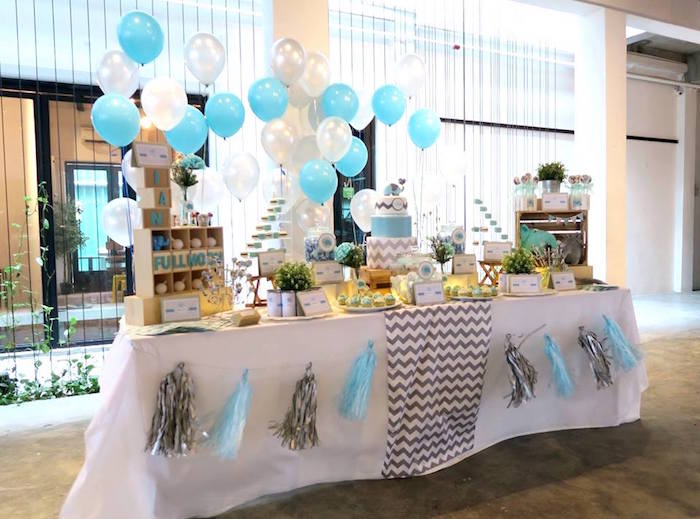 modern elephant baby shower on karau0027s party ideas 20