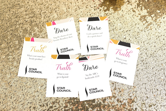 Truth or dare cards from a Modern Glam Sephora Party via Kara's Party Ideas KarasPartyIdeas.com (9)