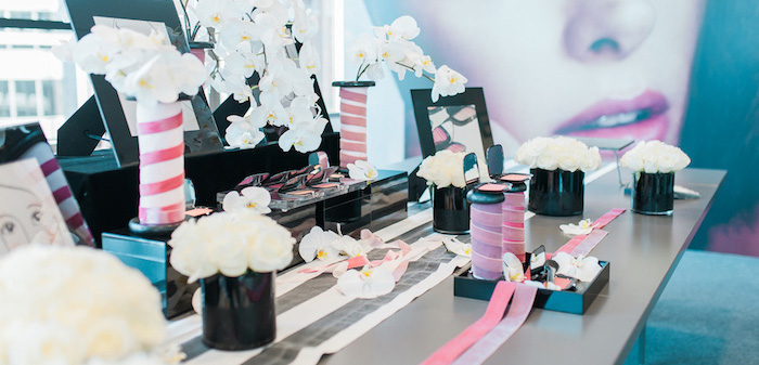 Modern Glam Sephora Party via Kara's Party Ideas KarasPartyIdeas.com (3)