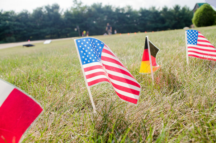 World Flags in the ground from an Olympics Inspired Birthday Party via Kara's Party Ideas | KarasPartyIdeas.com (51)