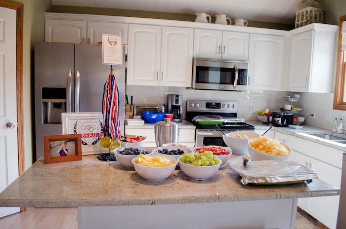 Food table from an Olympics Inspired Birthday Party via Kara's Party Ideas | KarasPartyIdeas.com (48)