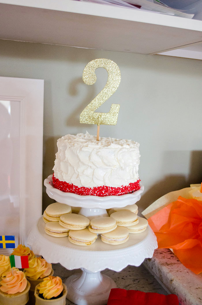 Cake from an Olympics Inspired Birthday Party via Kara's Party Ideas | KarasPartyIdeas.com (44)