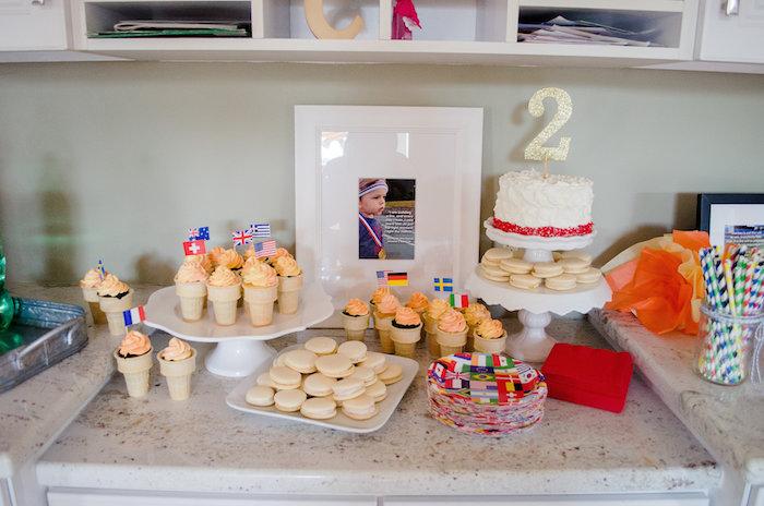 Sweet table from an Olympics Inspired Birthday Party via Kara's Party Ideas   KarasPartyIdeas.com (43)