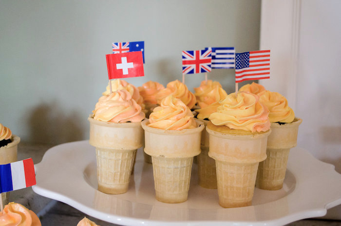Cone cupcakes from an Olympics Inspired Birthday Party via Kara's Party Ideas   KarasPartyIdeas.com (41)
