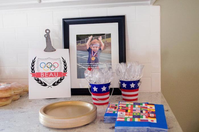 Partyware from an Olympics Inspired Birthday Party via Kara's Party Ideas | KarasPartyIdeas.com (38)