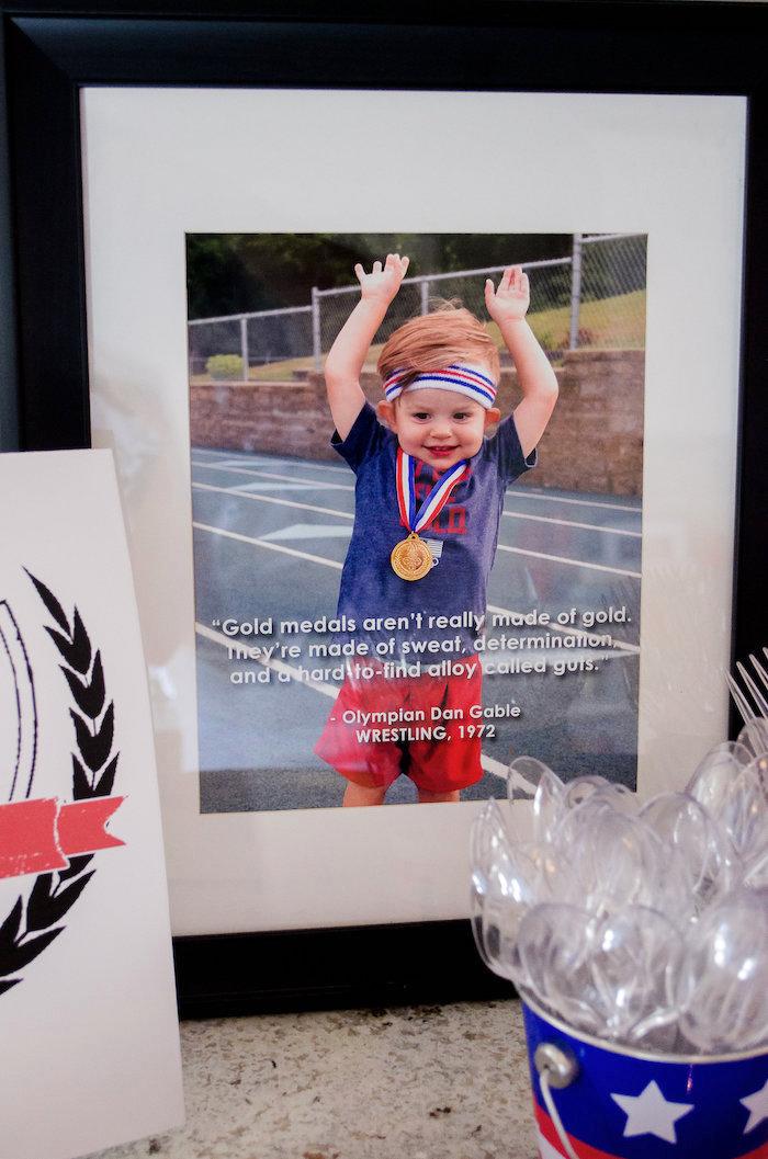 Framed photo quote from an Olympics Inspired Birthday Party via Kara's Party Ideas | KarasPartyIdeas.com (37)