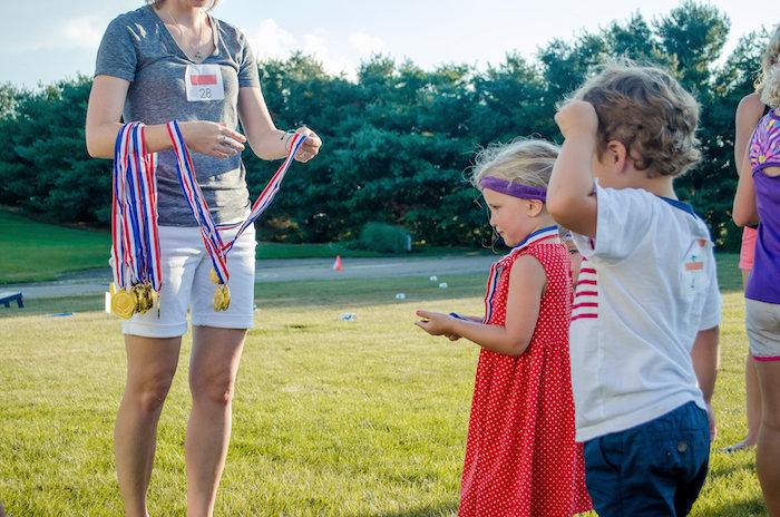 Award ceremony from an Olympics Inspired Birthday Party via Kara's Party Ideas   KarasPartyIdeas.com (19)