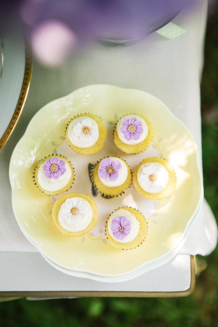 Cupcakes from an Outdoor Vintage Tea Party on Kara's Party Ideas | KarasPartyIdeas.com (24)