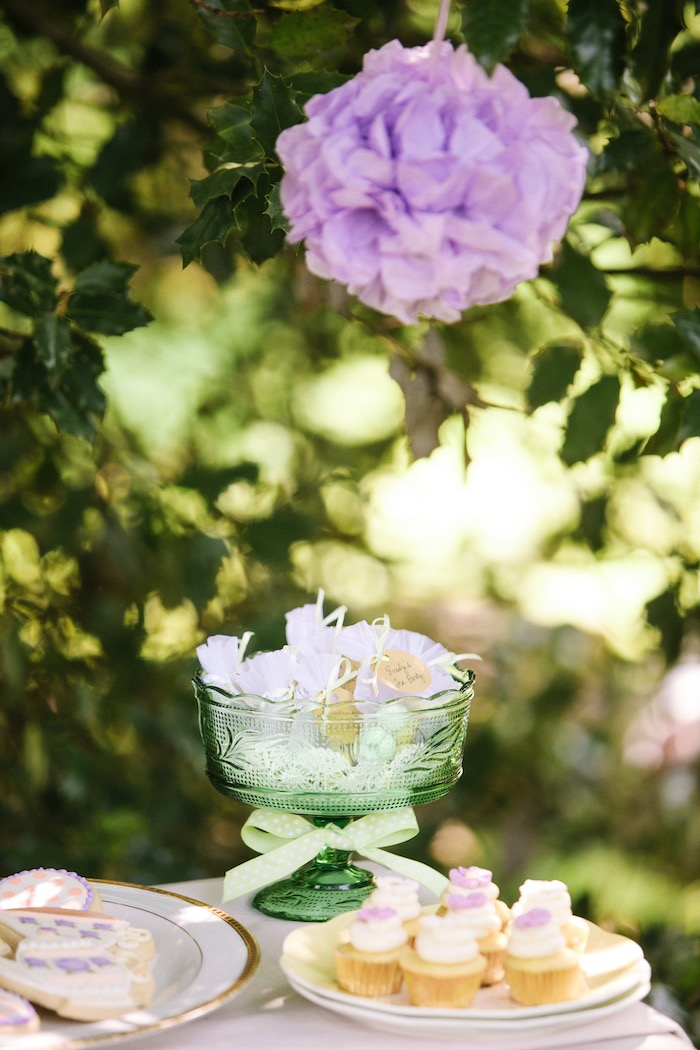 Table details from an Outdoor Vintage Tea Party on Kara's Party Ideas | KarasPartyIdeas.com (23)