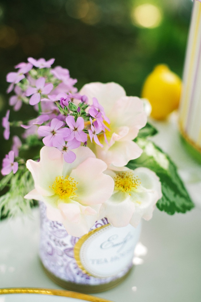 Blooms from an Outdoor Vintage Tea Party on Kara's Party Ideas | KarasPartyIdeas.com (36)