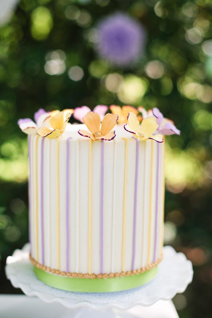 Cake from an Outdoor Vintage Tea Party on Kara's Party Ideas | KarasPartyIdeas.com (7)
