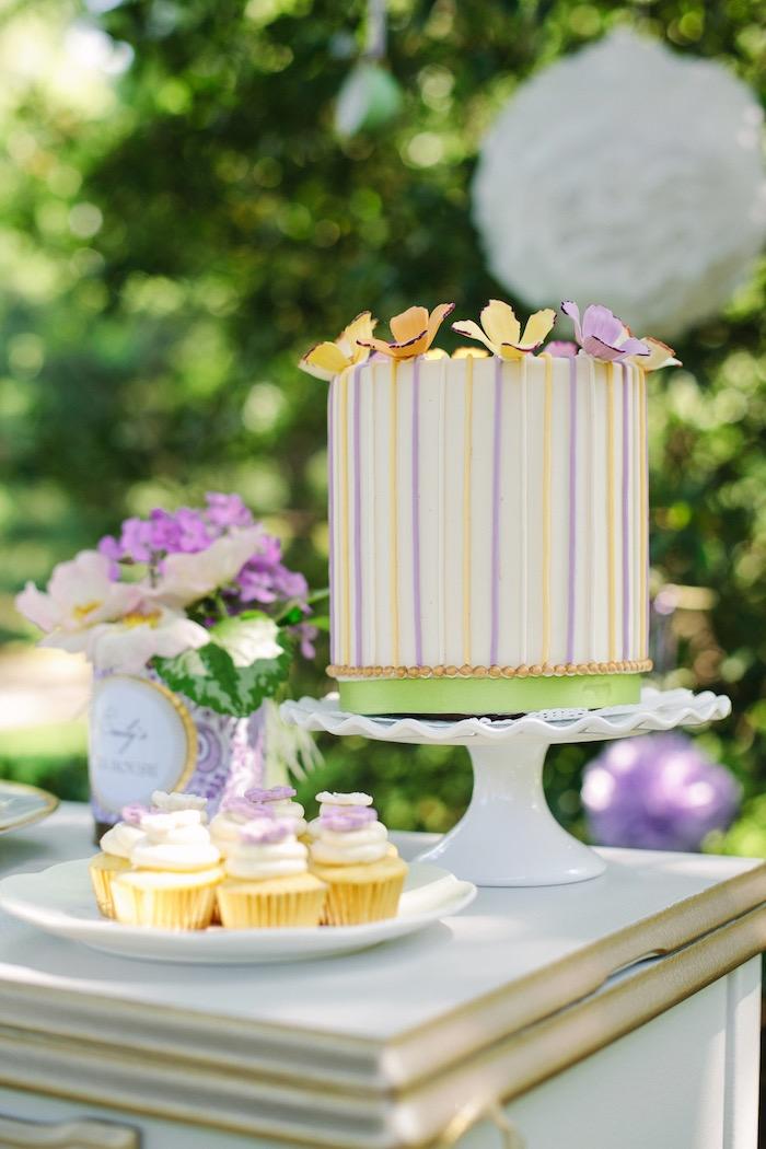 Cakescape from an Outdoor Vintage Tea Party on Kara's Party Ideas | KarasPartyIdeas.com (5)