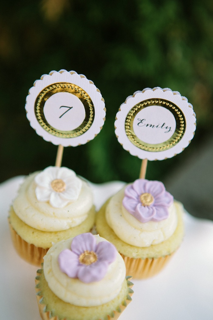 Cupcakes from an Outdoor Vintage Tea Party on Kara's Party Ideas | KarasPartyIdeas.com (33)