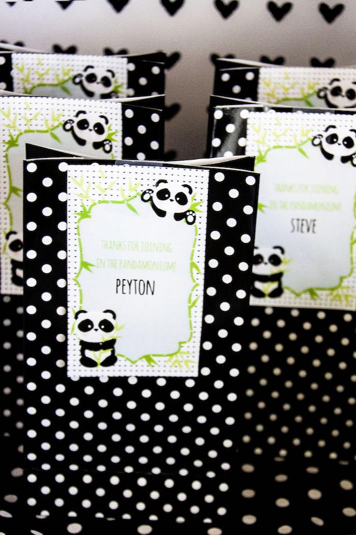"Gift bags from a Panda Bear ""Panda-monium"" Birthday Party via Kara's Party Ideas   KarasPartyIdeas.com (10)"