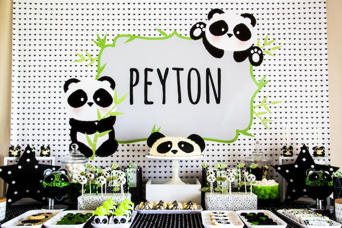 "Panda Bear ""Panda-monium"" Birthday Party via Kara's Party Ideas 