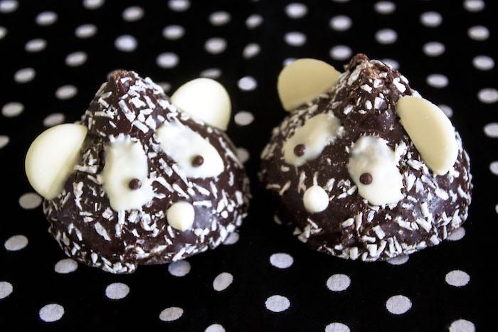 "Chocolate Snowball Panda Bears from a Panda Bear ""Panda-monium"" Birthday Party via Kara's Party Ideas   KarasPartyIdeas.com (5)"